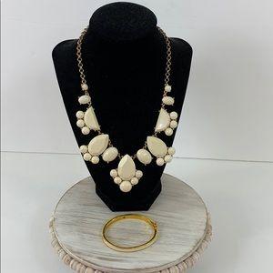 Kate Spade Day Tripper Bib Necklace & Bracelet Set